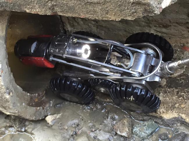 Robotcrawler camera rioolinspectie